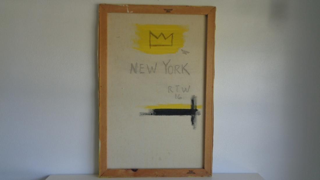 "Basquiat Style Painting ""Flexible"" - 3"