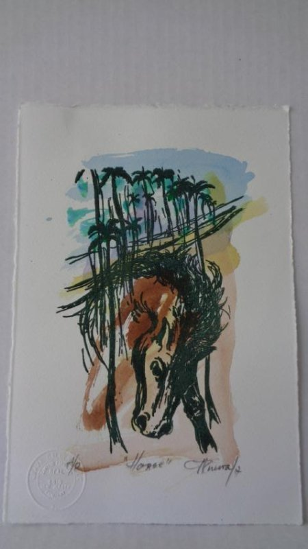Carlos Enrique (Cuban1900-1957) Illuminated Engraving - 2