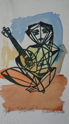 Leonel Lopez-Nussa (1916-2004) Illuminated Engraving