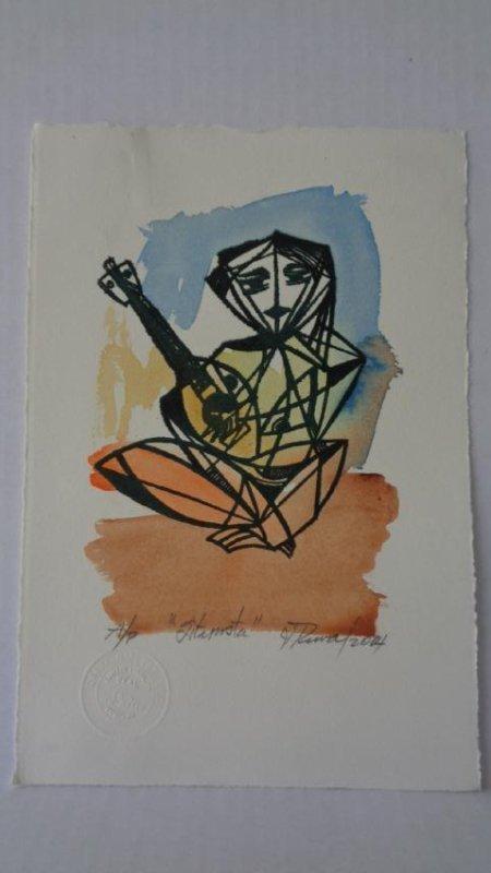 Leonel Lopez-Nussa (1916-2004) Illuminated Engraving - 2
