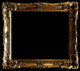 """Wood Picture Frame Ornate Antique Gold 24"""" x 36 #17"""
