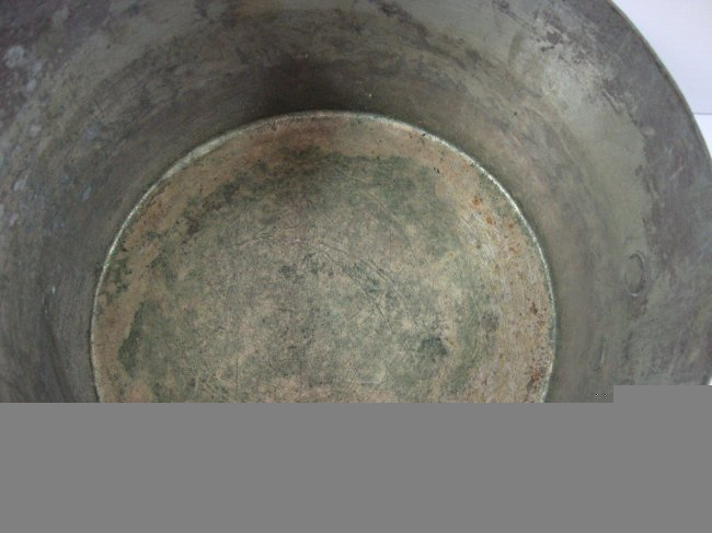 "Antique American-1800'Heavy Cooper Brass Cook Pan 17"" - 2"