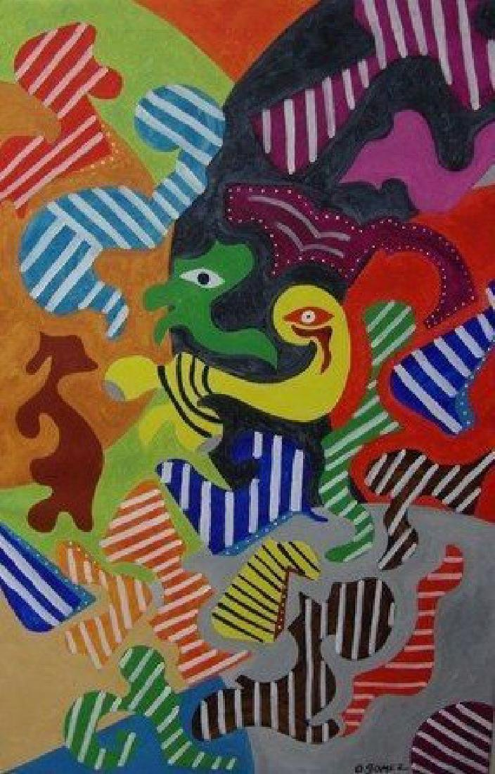 """Puzzle Mind"" Original Oil Painting-Signed"