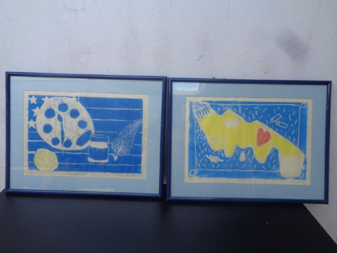 Lot of 2 Original Engraving Signed