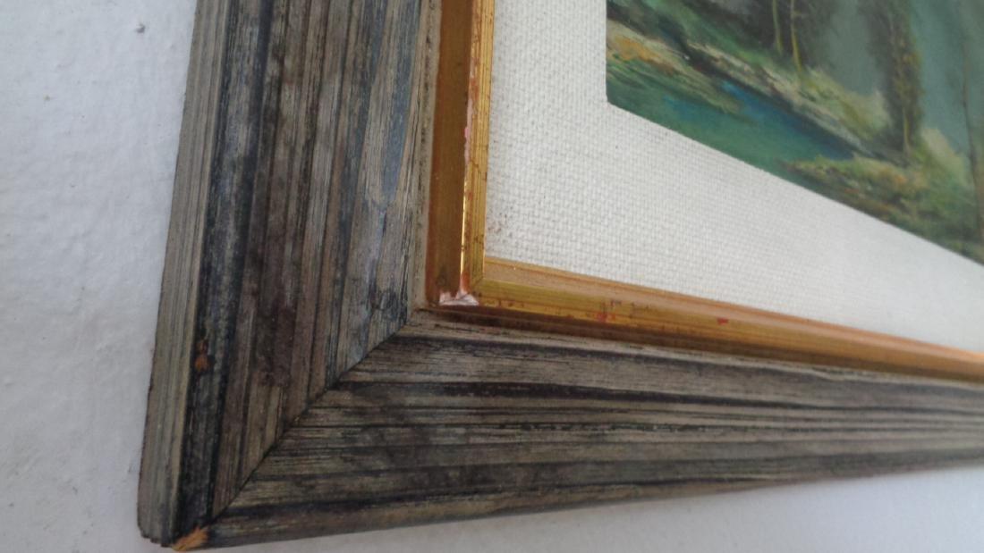 Original Oil Painting Landscaping on Masonite- Signed - 4