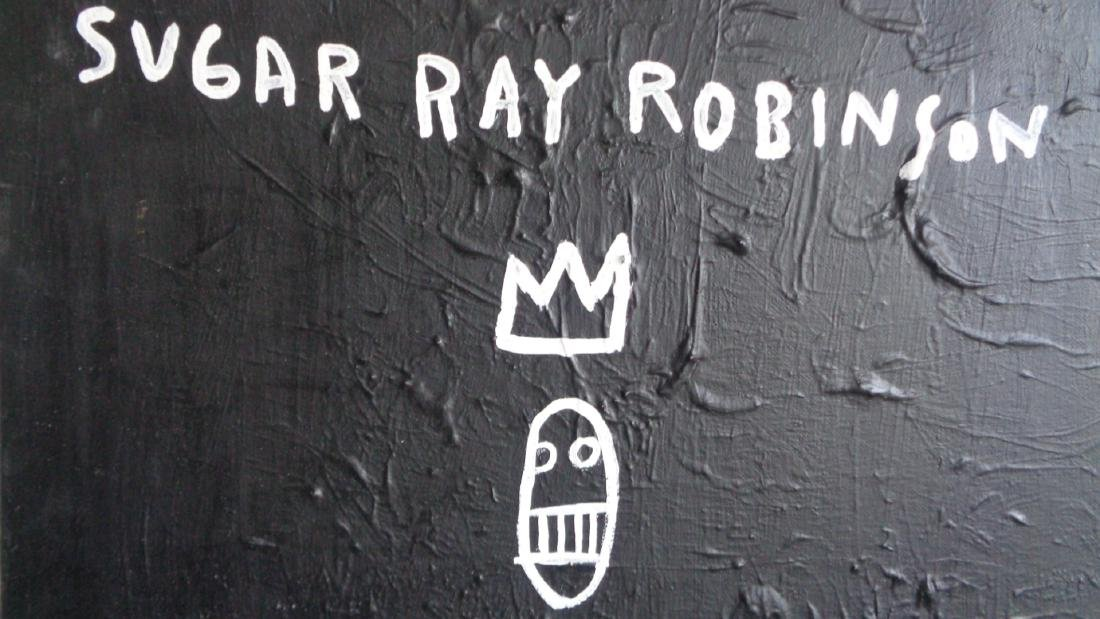 "Basquiat Style""Sugar Robinson 1982 Signed - 2"