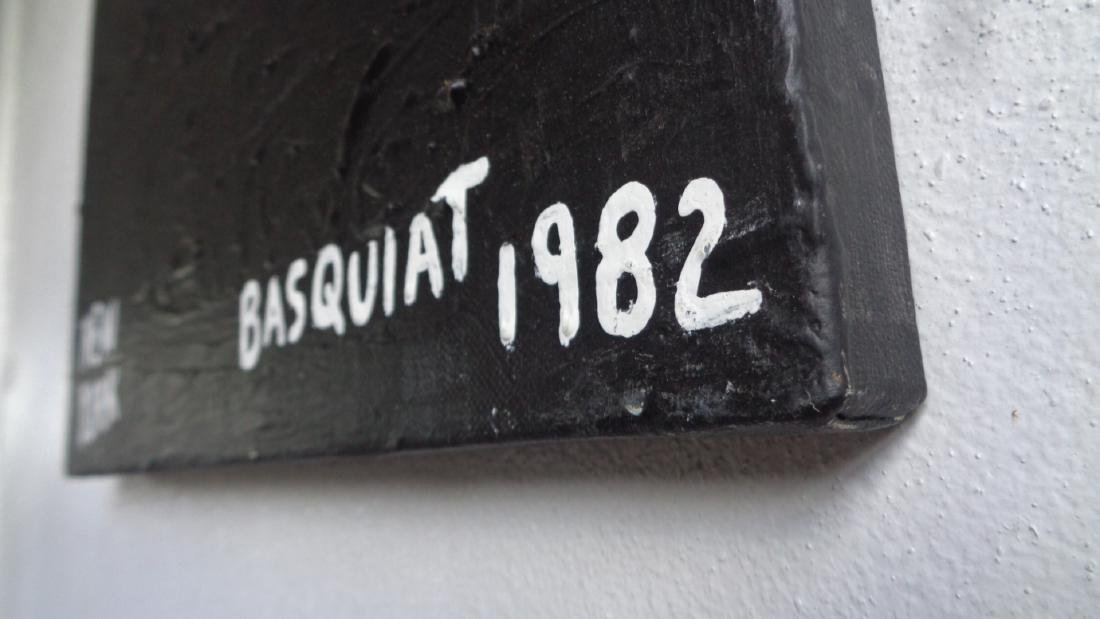 "Basquiat Style""Sugar Robinson 1982 Signed - 3"