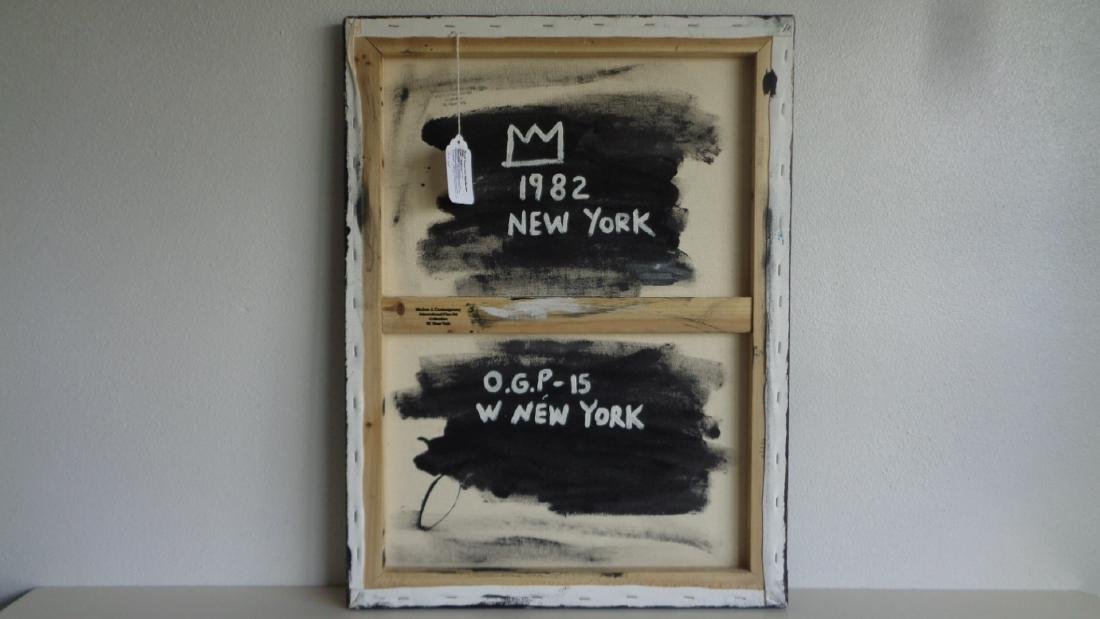 "Basquiat Style""Sugar Robinson 1982 Signed - 4"