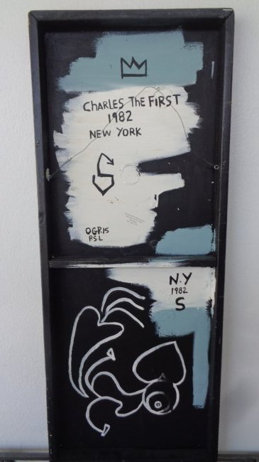Original Street Art Painting on Masonite. Basquiat - 4