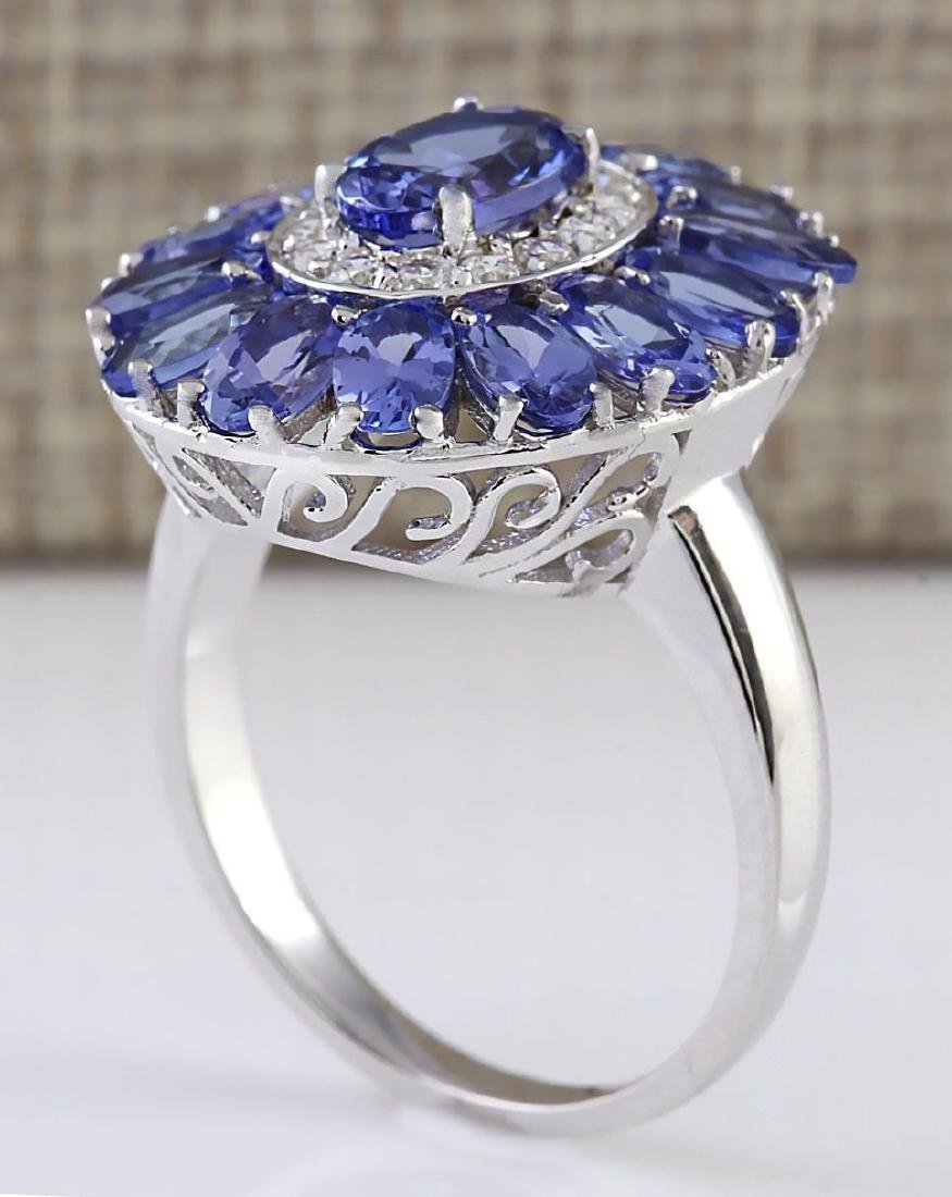 Blue Sapphire CZ Gemstone 925 Silver:Size 8 - 2