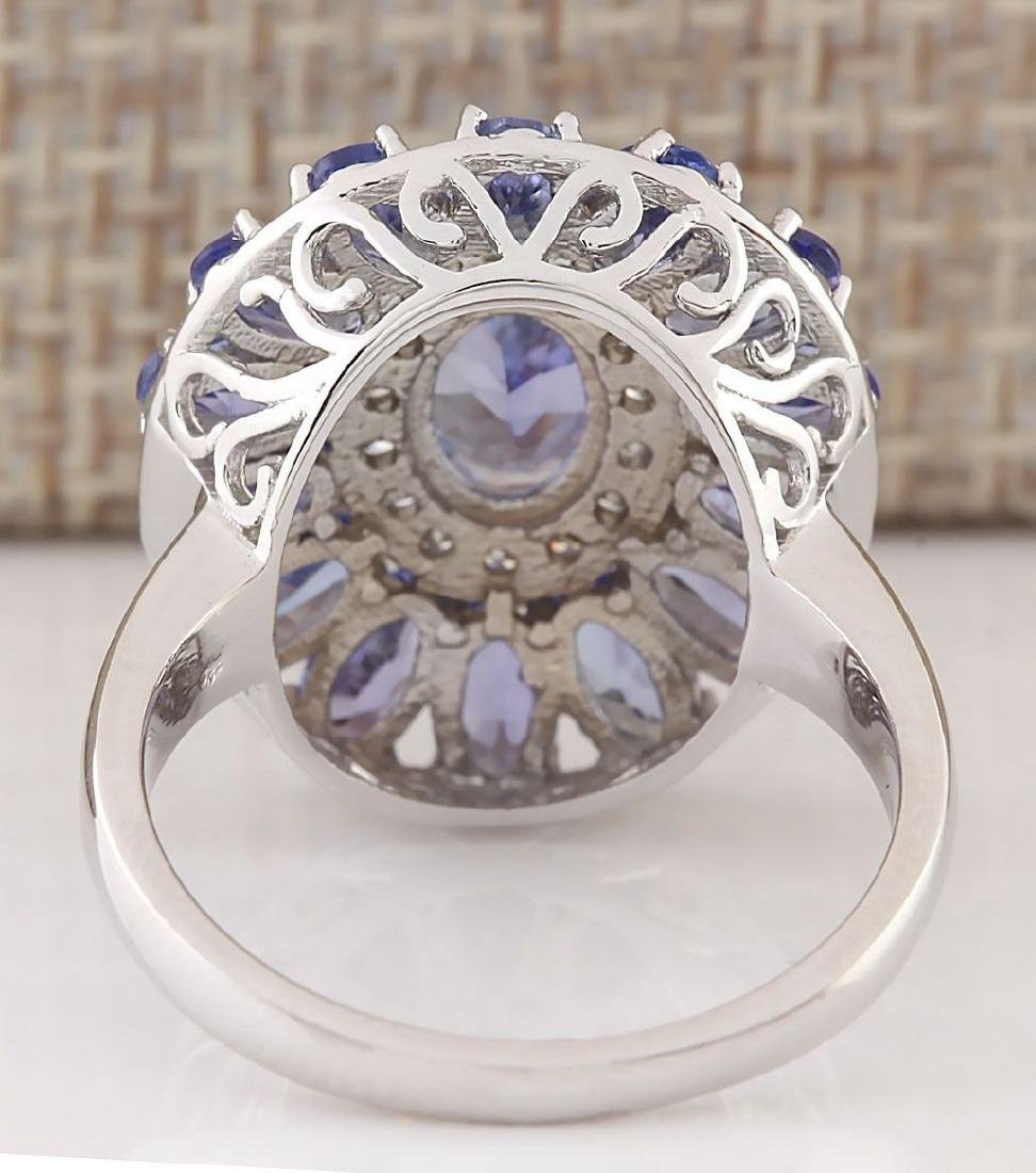 Blue Sapphire CZ Gemstone 925 Silver:Size 8 - 3