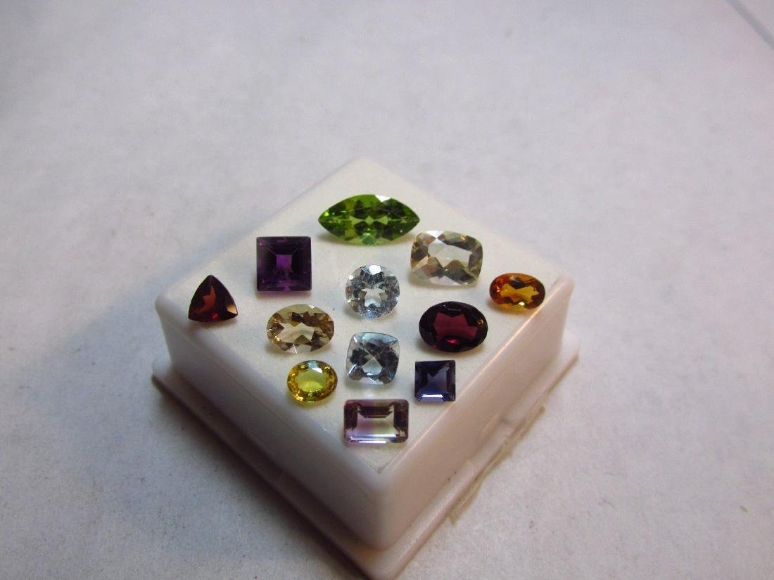Lot of 12 Natural Mixed Faceted Gemstone.