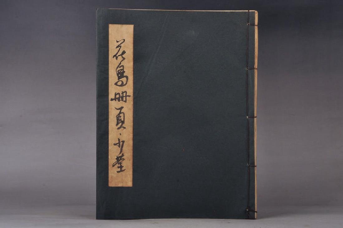 Chinese Hand-Painted Calligraph & Animals  Signed Book