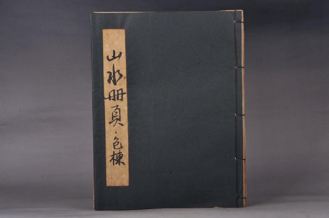 Chinese Hand-Painted Calligraph & Landscaping  Sig Book