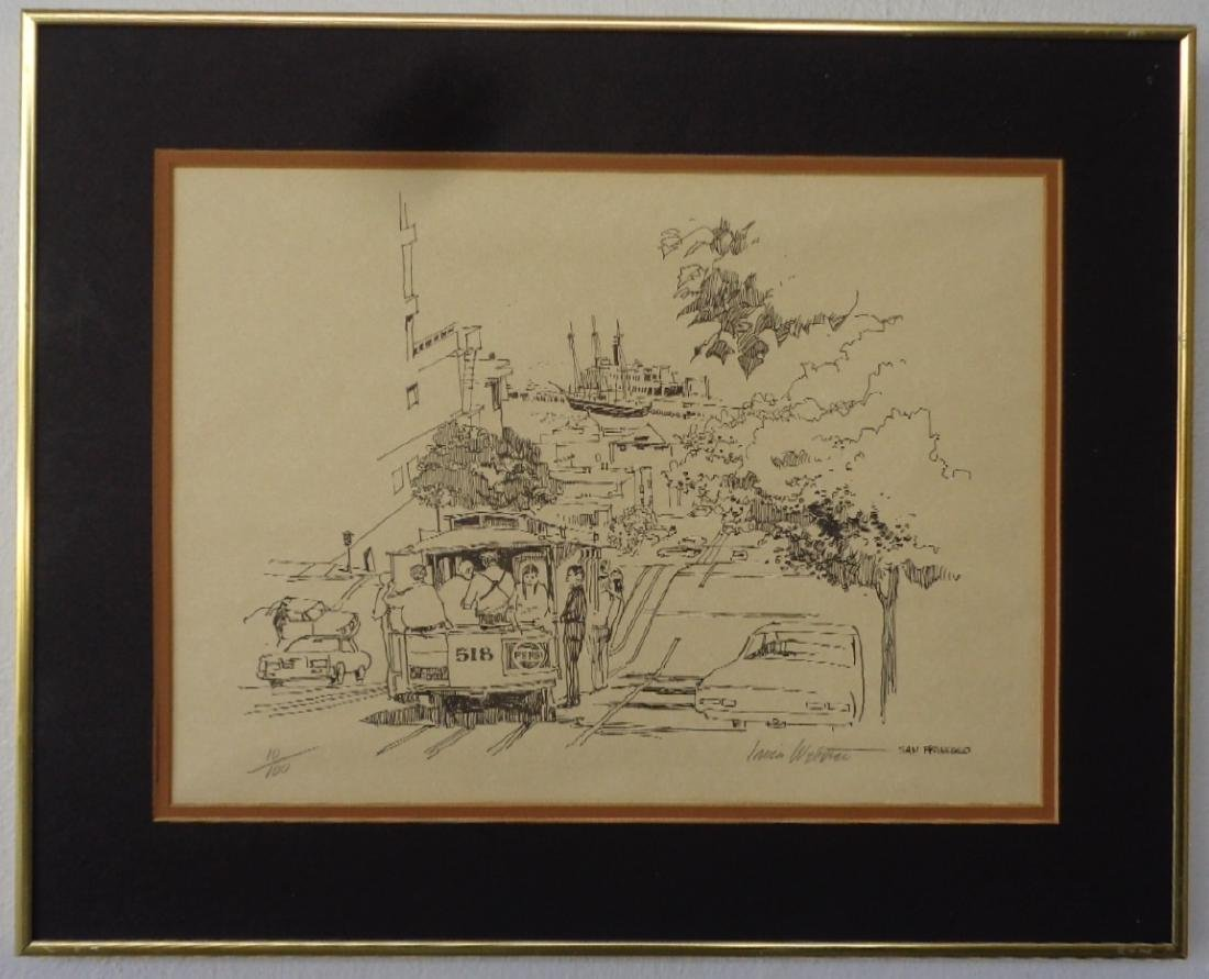Irvin W San francisco 10/100 Engraving Hand Signed