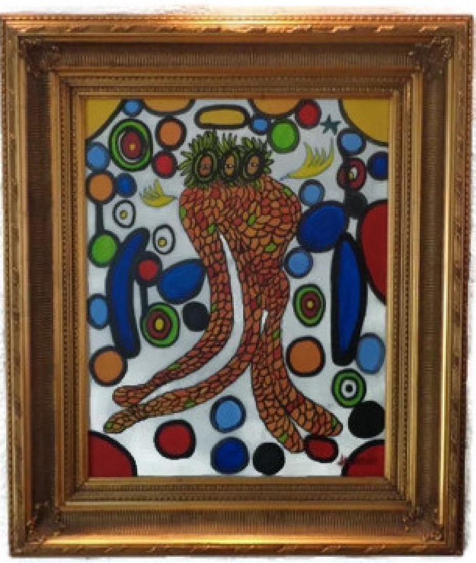 Jaramillo (Col -1956) Original Surrealism Oil Painting