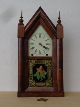Antique Cathedral Mantle Clock
