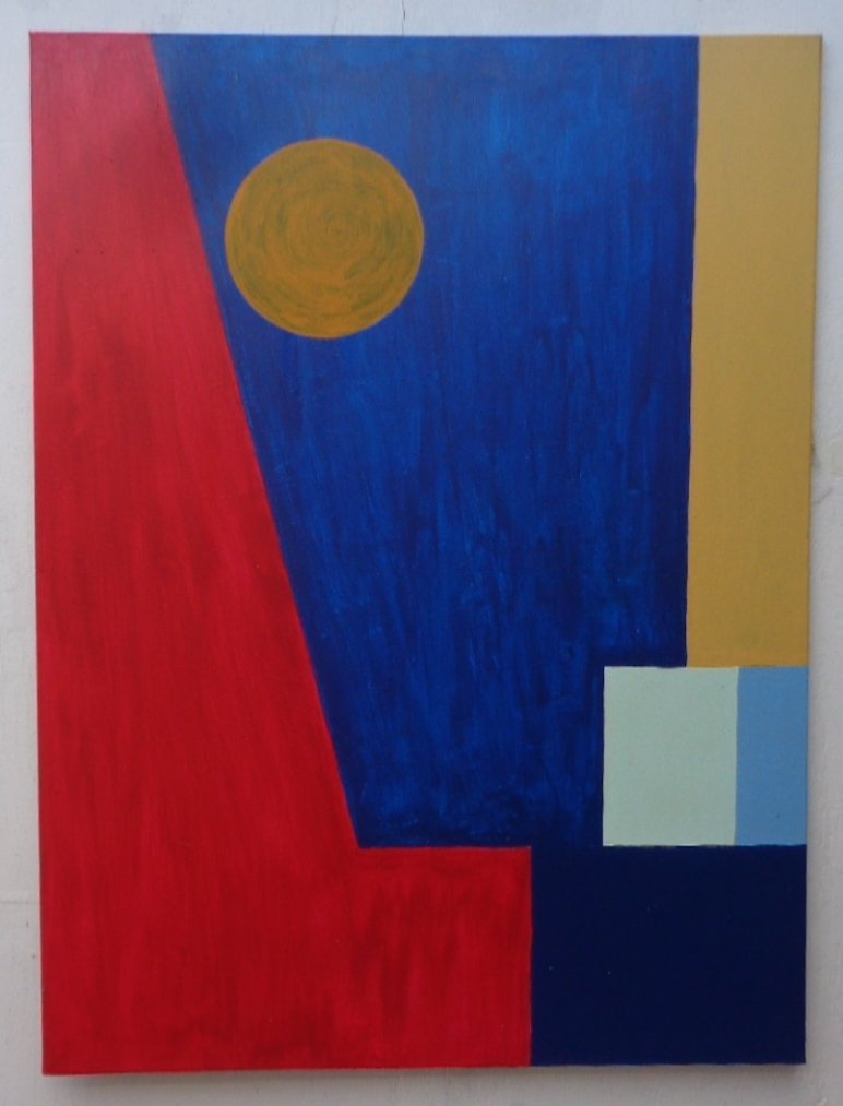 Original Abstract Painting on Canvas Signed W/COA