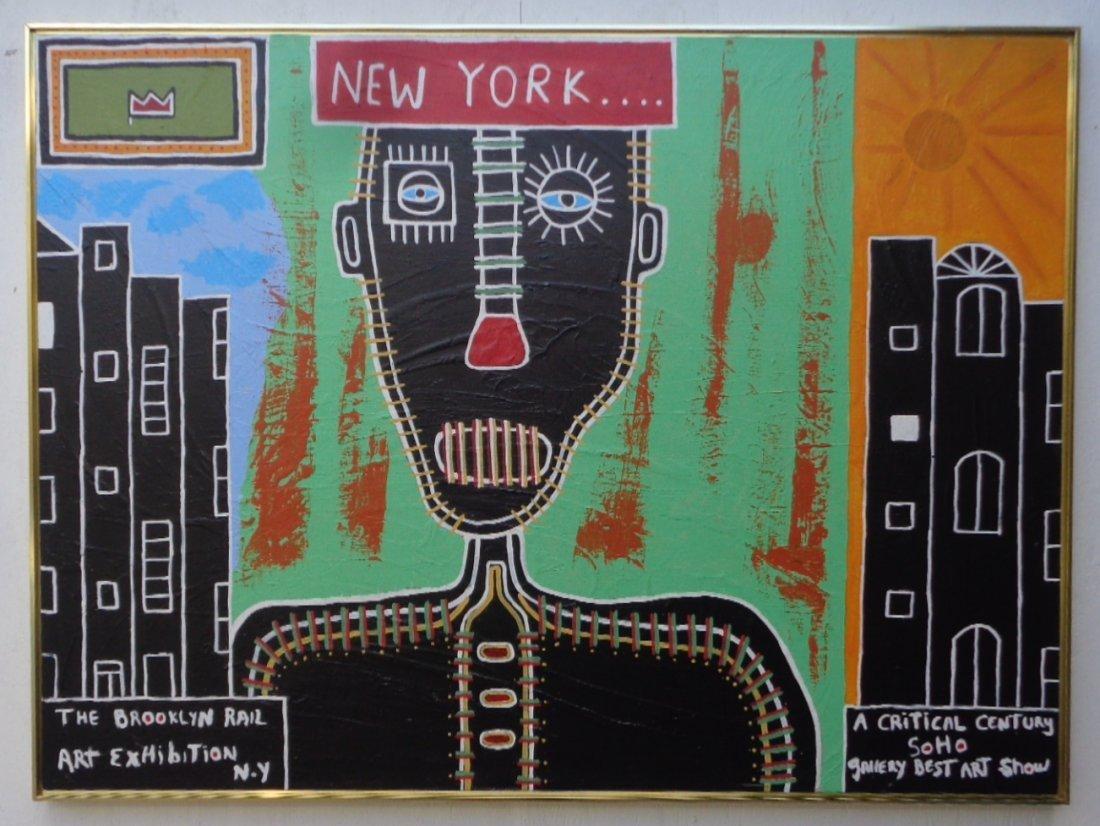 Large Original Contemporary Art-New York Painting W/COA