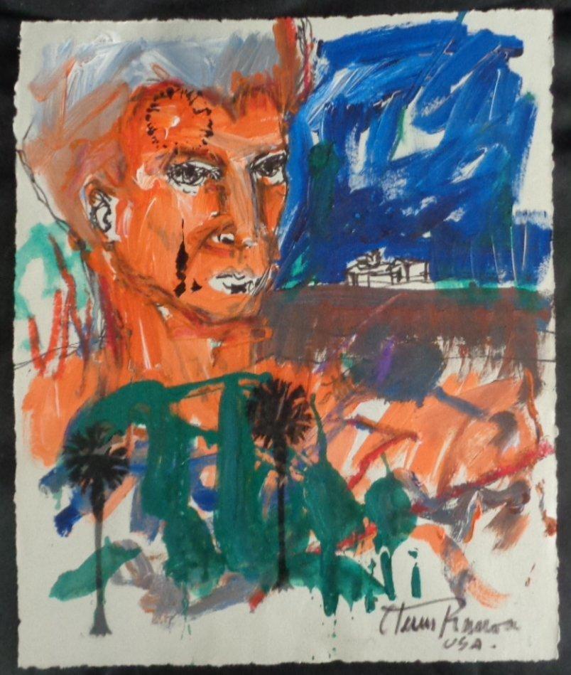 Rare J Rivera Original Avant-Garde Painting Signed.