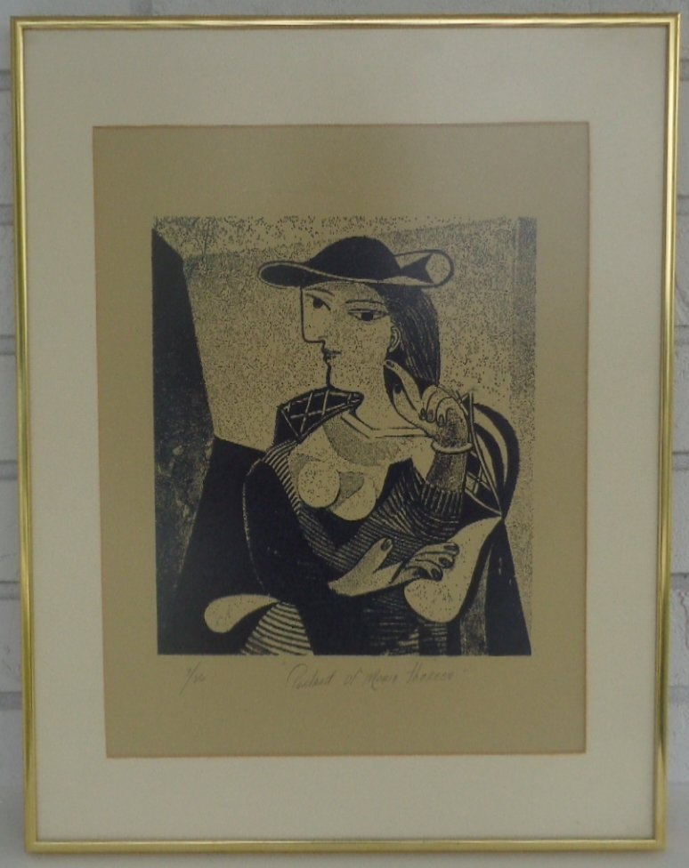 """Pablo Picasso """"Engraving Marie Therese"""" 3/26 Signed"""