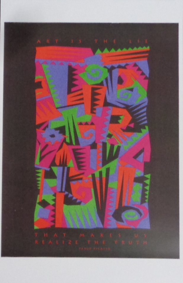 """Lithograph Plablo Picasso """"Art is the lie that make Us"""