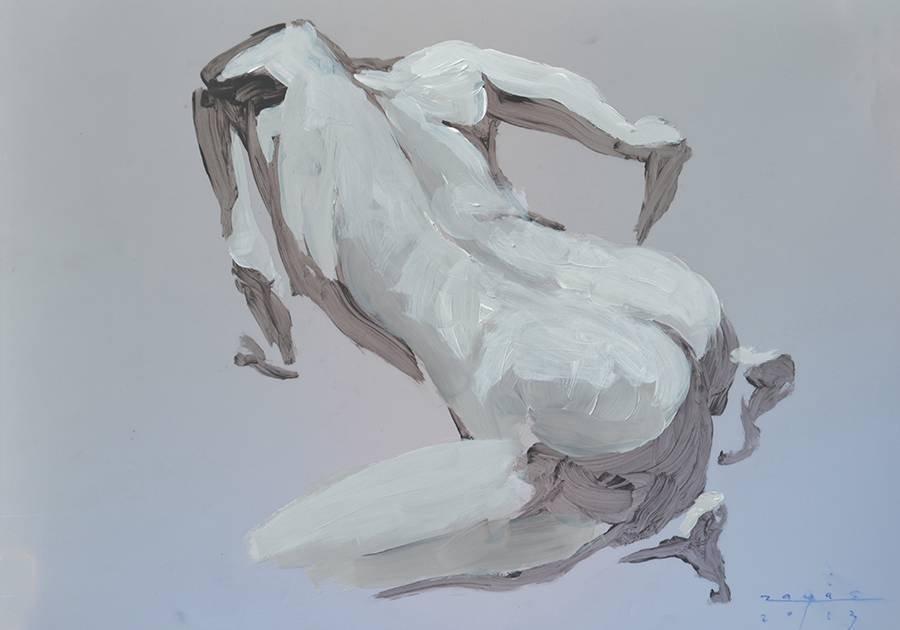 Origina Zayas 2013 Cuban Fine Art Painting on Vellum