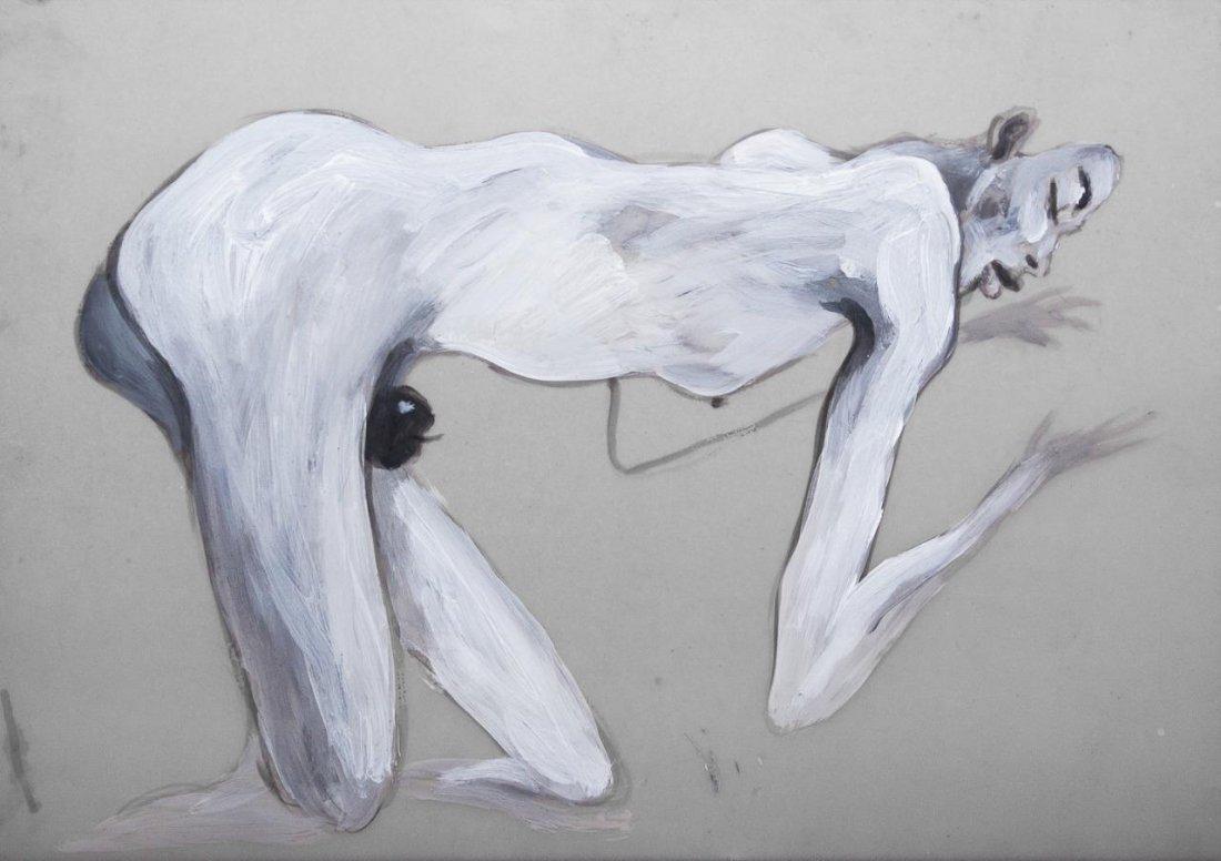 Original Zayas Cuban Fine Art Painting on Vellum.