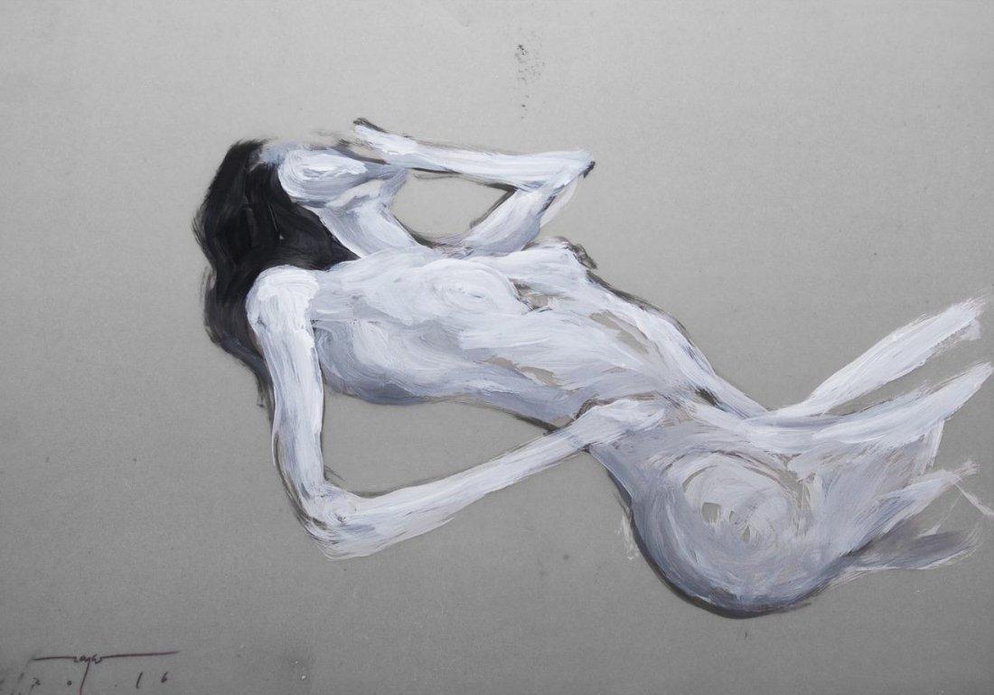 Original Zayas 2013 Cuban Fine Art Painting on Vellum.