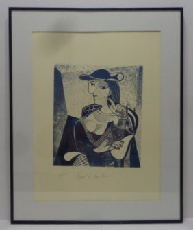 """Pablo Picasso \""""engraving Marie Therese\"""" 3/26, Window"""