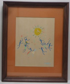 Pablo Picasso (spanish, 1881-1973) Serigraph N York
