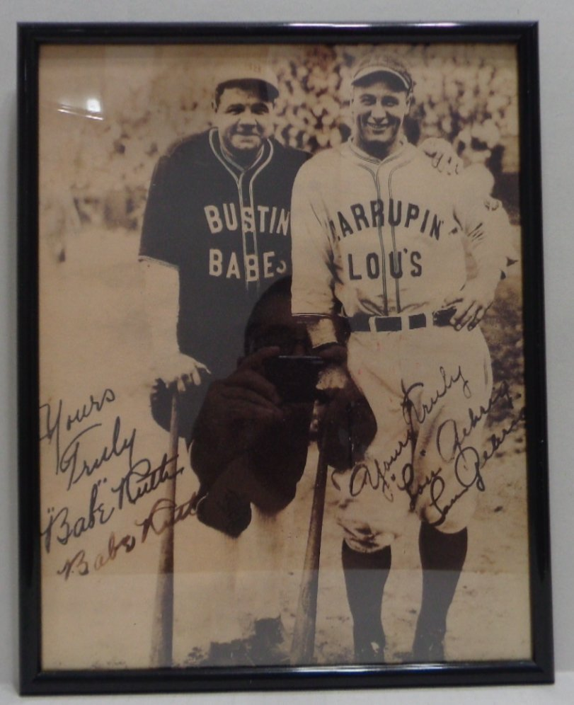 Baby Ruth Signed This is a Print on Paper of the Vintag
