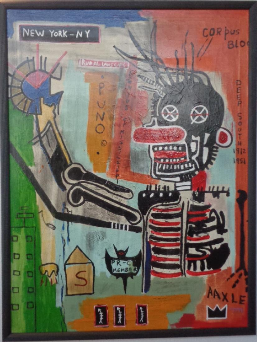 Original Street Art Urban Painting on Canvas Basquiat