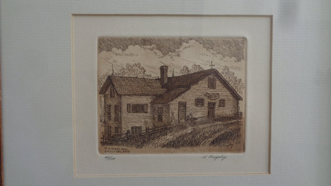 Signed Limited Edition Aquatint Etchings by Stephen Pug