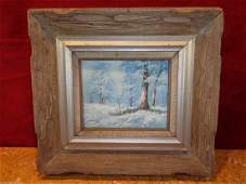 H Gailey Signed Vintage Original Oil painting Framed