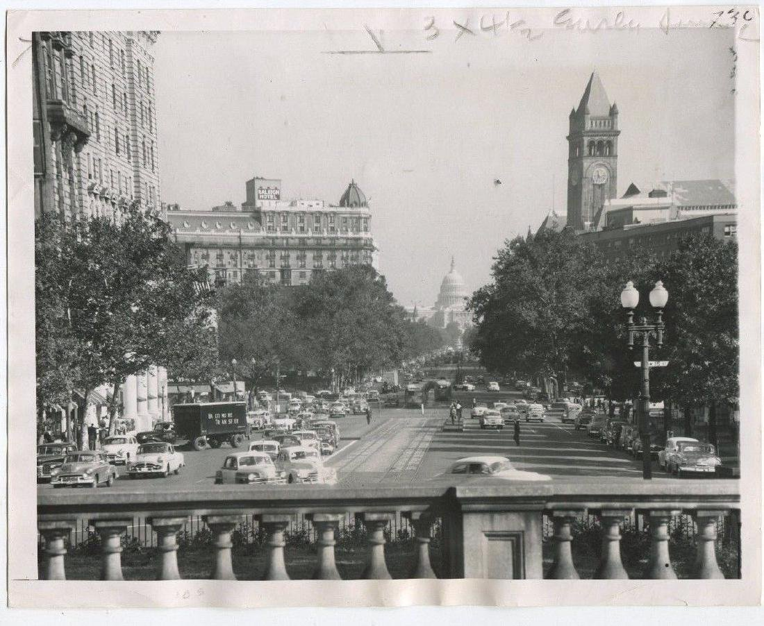 1952 View of Pennsylvania Ave, Washington, DC Original