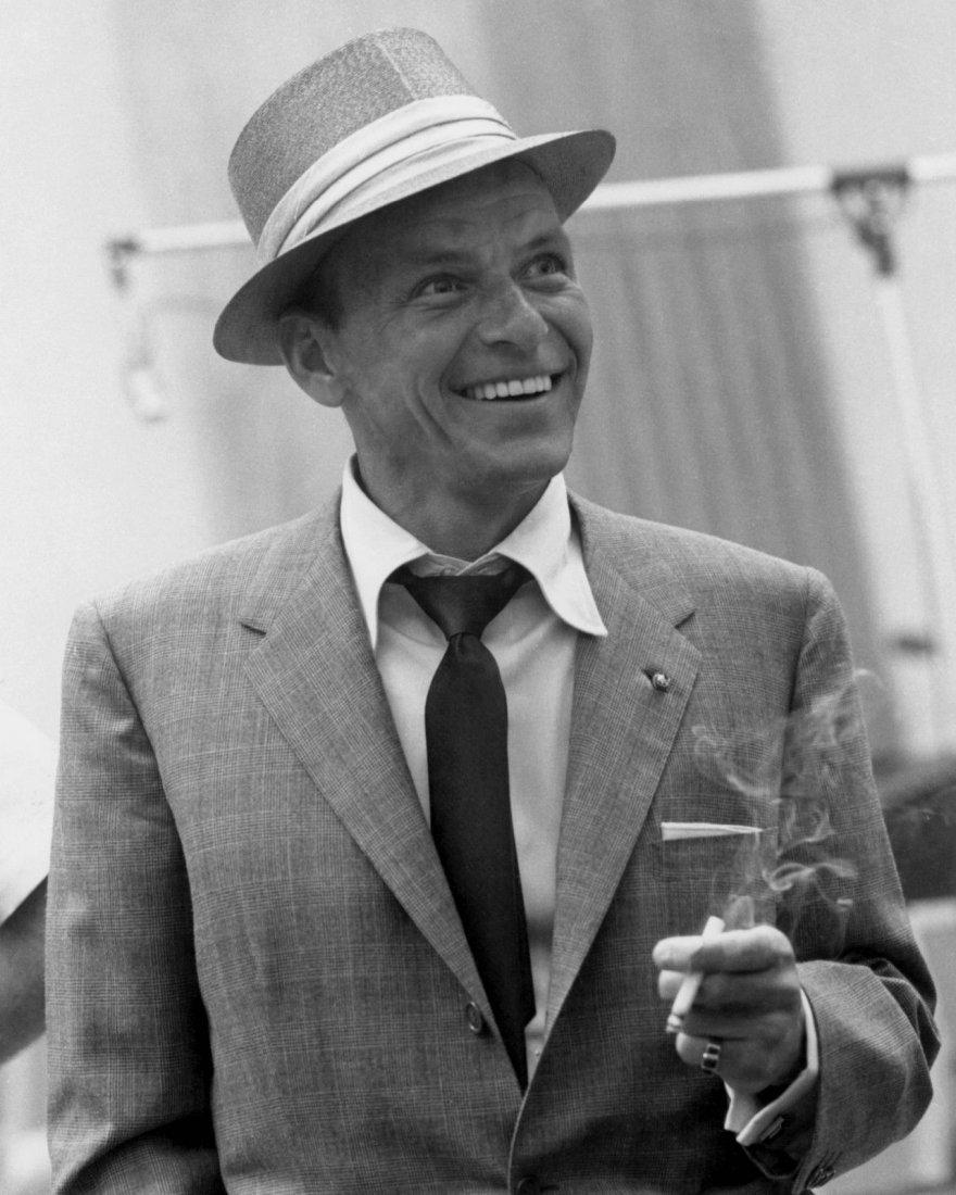 Rare Black & White Frank Sinatra  Photo