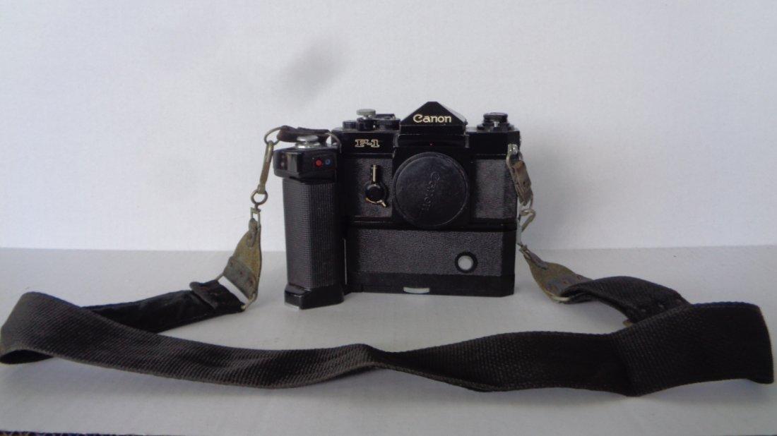 Canon F-1 Camera w/ Motor Drive w/ Lens - 10