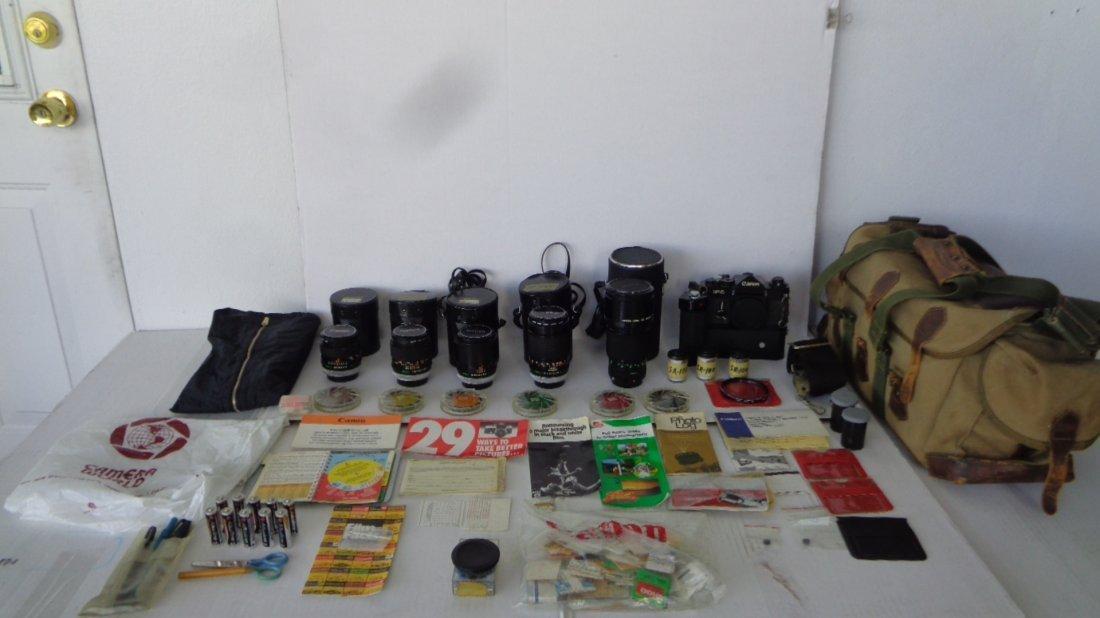 Canon F-1 Camera w/ Motor Drive w/ Lens