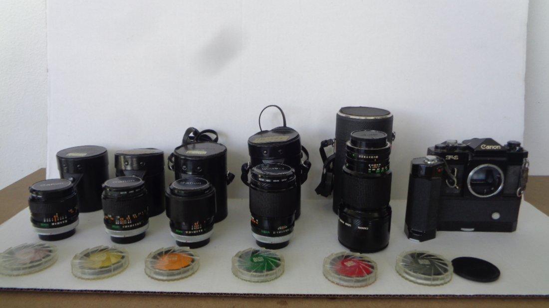 Canon F-1 Camera w/ Motor Drive w/ Lens - 2