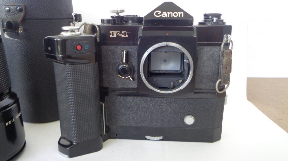 Canon F-1 Camera w/ Motor Drive w/ Lens - 3