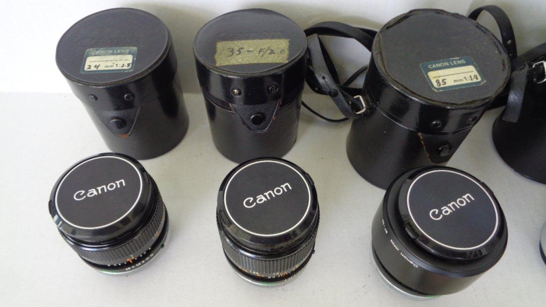 Canon F-1 Camera w/ Motor Drive w/ Lens - 5