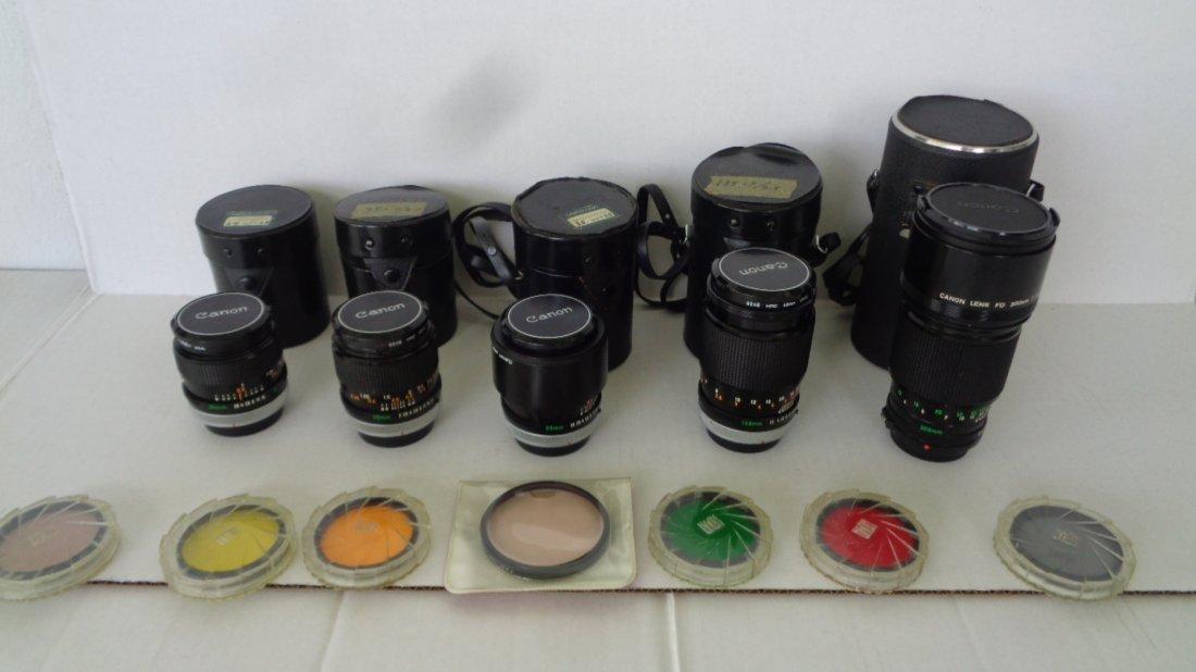 Canon F-1 Camera w/ Motor Drive w/ Lens - 6