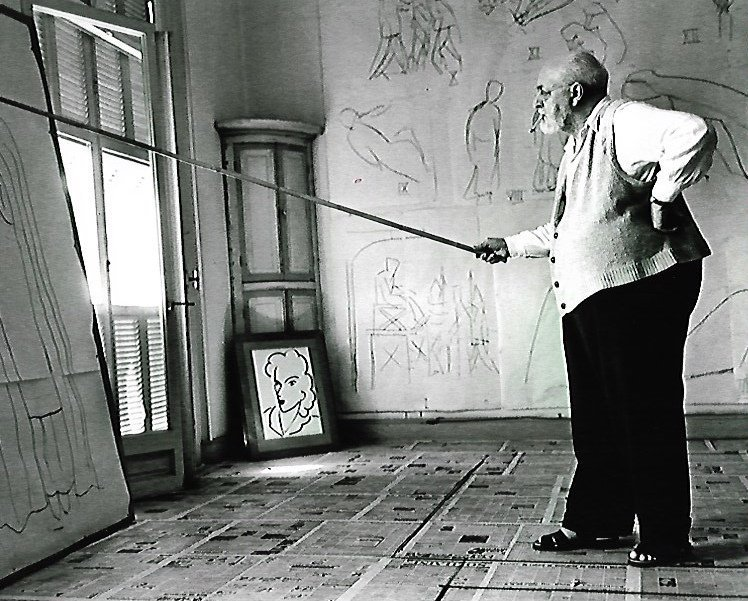 Rare Self Portrait Black & White Matisse