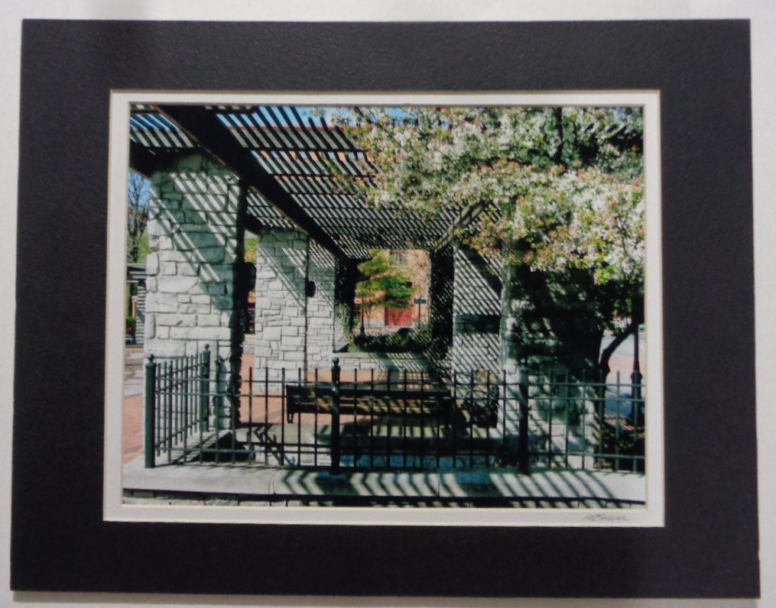 Matted Franklin Square New  York  - Signed - Photo