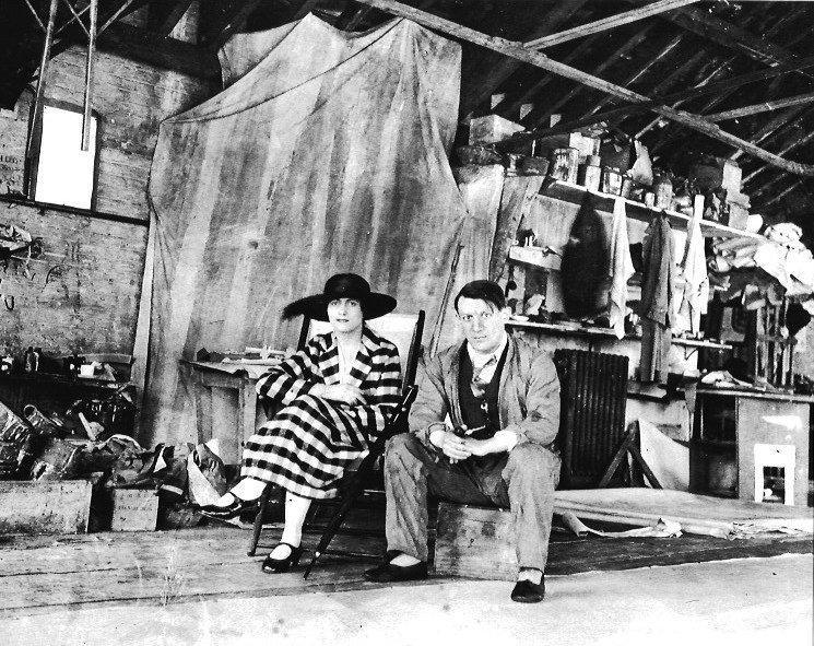 Black & White Pablo Picasso at His Study Photo - Spain