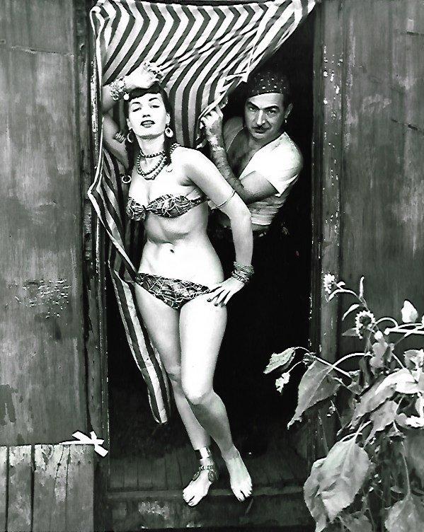 Black & White Betty Page Photo