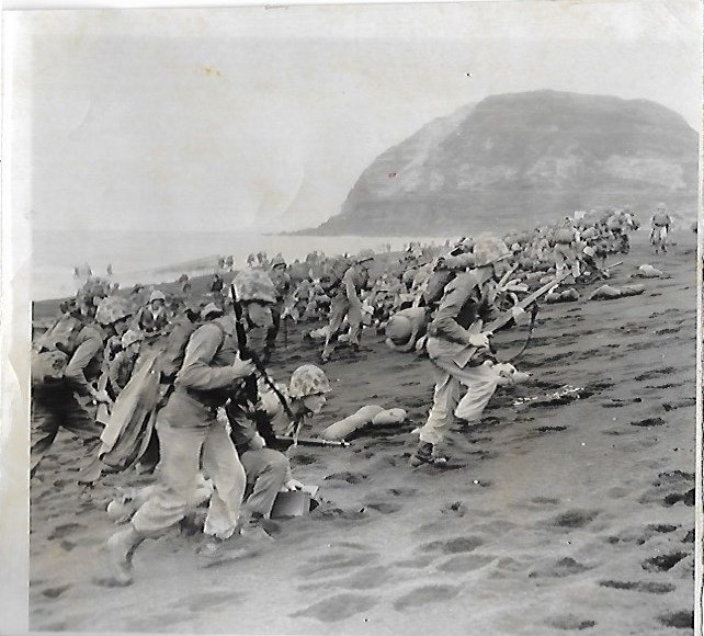 1956  Photo War game reenactment of advance on Iwo Jima