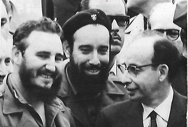 1960  Photo Cuban Leader Fidel Castro & Raul Roa, Minis