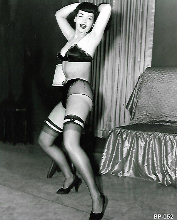 Vintage  B&W Photo Sexy Girl Print
